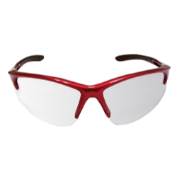 Sas Safety DB2 Safety Glasses with Mirror Lens and Red Frame in Polybag