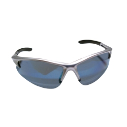 Sas Safety DB2 Safety Glasses with Ice Blue Lens and Silver Frames in Polybag