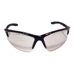 Sas Safety DB2 Safety Glasses with Indoor/Outdoor Lens and Black Frames in Polybag