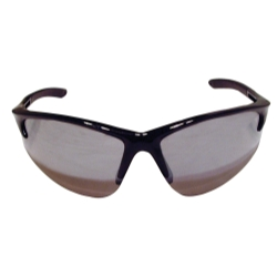Sas Safety DB2 Safety Glasses with Mirror Lens and Black Frames in Polybag