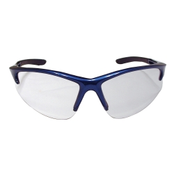 Sas Safety DB2 Safety Glasses with Clear Lens and Blue Frames in Polybag