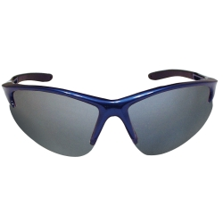 Sas Safety DB2 Safety Glasses with Mirror Lens and Blue Frames in Clamshell Packaging
