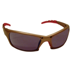 Sas Safety GTR Safety Glasses with Gold Frames and Shade Lens in Polybag
