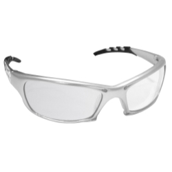 Sas Safety GTR Safety Glasses with Silver Frame and Clear Lens in Clamshell Packaging