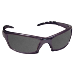 Sas Safety GTR Safety Glasses with Charcoal Frame and Shade Lens in Clamshell Packaging