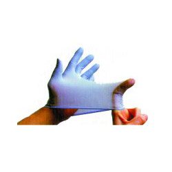 Sas Safety 6607 Derma Lite Powdered Nitrile Gloves, Medium