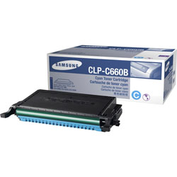 Samsung CLP-C660B Toner Cartridge, High-Yield, Cyan