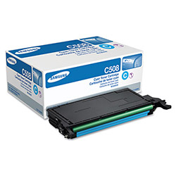 Samsung CLTC508S Toner, 2,000 Page-Yield, Cyan
