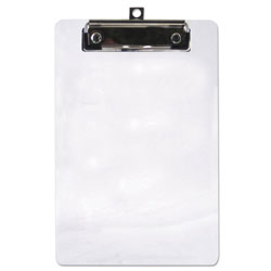 "Saunders Plastic Clipboard, 1/2"" Capacity, 6 x 9 Sheets, Clear"