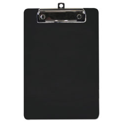 "Saunders Plastic Clipboard, 1/2"" Capacity, 6 x 9 Sheets, Black"
