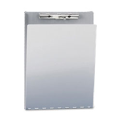 Saunders Aluminum Clipboard with Writing Plate and Hinged Cover for 8 1/2 x 12 Forms