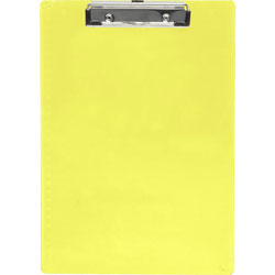 "Saunders Plastic Clipboard, Letter, Holds 1/2"" of Paper, Neon Yellow"