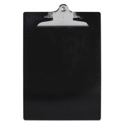 Saunders Recycled Clipboards, Plastic, Letter Size, Black Opaque