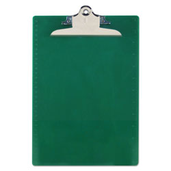 Saunders Recycled Clipboards, Plastic, Letter Size, Green Opaque