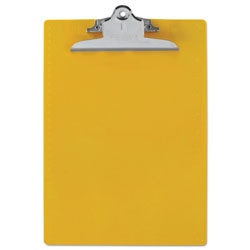 Saunders Recycled Clipboards, Plastic, Letter Size, Yellow Opaque
