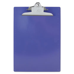 Saunders Recycled Clipboards, Plastic, Letter Size, Purple Opaque