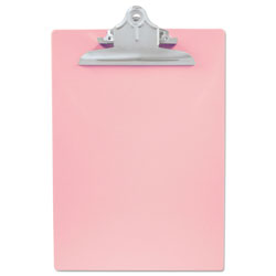 "Saunders Recycled Portable Desktop, 1"" Capacity, Holds 8 1/2w x 12h, Pink"