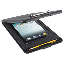 Saunders SlimMate Storage Clipboard with iPad Air Compartment, Black