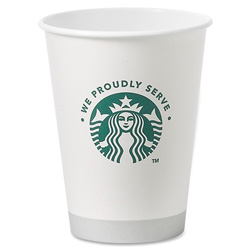 Starbucks Paper Hot Cups - 12oz Size - Case of 1,000