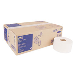 "Tork Advanced Bath Tissue Mini Jumbo Roll, 2 Ply, White, 3.6""x751', 7.4"" Diameter"