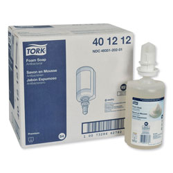 Tork Premium Antibacterial Soap, Unscented, 33.8 oz, 6/Carton