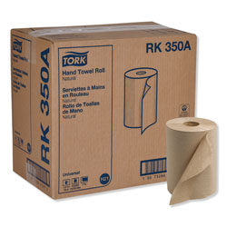 "Tork Universal RK350A Hardwound Paper Roll Towel, 1-Ply, 7.87"" Width x 350' Length, Natural"