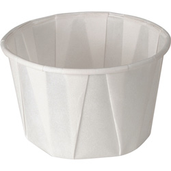 Solo 3.25 Oz Paper Portion Cups, White