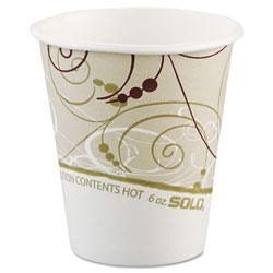 Solo 6 Oz Hot Paper Cups, Symphony Design, Pack of 1000
