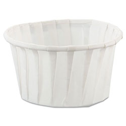 Solo 4 Oz Paper Souffle/Portion Cup, White