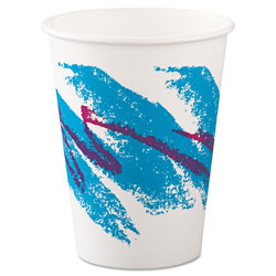 Solo 12 Oz Hot Paper Cups, Jazz Design, Pack of 1000