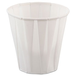 Solo 3.5 Oz Pleated Paper Water Cup, White