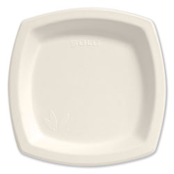 "Solo Bare Eco-Forward Dinnerware, 8 3/10"" Plate, Ivory, 125/Pack"