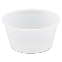 Solo 2 Oz Plastic Portion Cup, Translucent