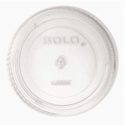 Solo LDSS5 Clear Flat Top Dome Lid for 5.5 Ounce Container