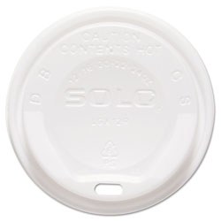 Solo Gourmet Hot Cup Lids, For Trophy Plus Cups, 12-16 oz, White, 1500/Carton