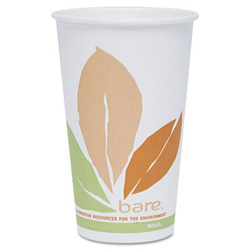 Solo Bare Eco-Forward Compostable PLA Paper Hot Cups, 16 oz