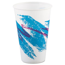 Solo 12 Oz Cold Paper Cups, Jazz Design, Pack of 2000