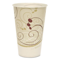 Solo 12 Oz Cold Paper Cups, Symphony Design, Case of 2000