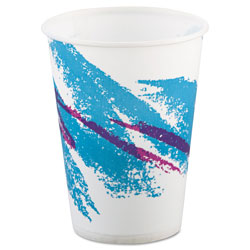 Solo 9 Oz Cold Paper Cups, Jazz Design, Pack of 2000