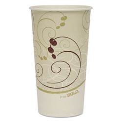 Solo 21 Oz Cold Paper Cups, Symphony Design