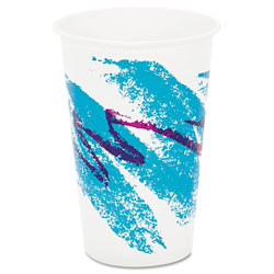 Solo 16 Oz Cold Paper Cups, Jazz Design, Case of 1000