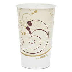 Solo 16 Oz Cold Paper Cups, Symphony Design, Case of 1000