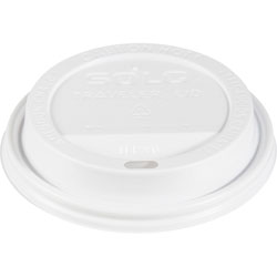 Solo Hot Cup Lid, Dome, 1000/CT, White