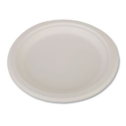 "SCT ChampWare Heavyweight Bagasse Dinnerware, Plate, 9"", White, 500/Carton"