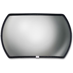 "See All Round Rectangular Glass Convex Detection Mirror, 15""x24"" For Areas To 20 sq. ft."