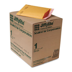 "Paper Jiffylite® Kraft Bubble Mailers, Self Seal Close, Bulk Pack, 7 1/4""x12"", Case of 100"