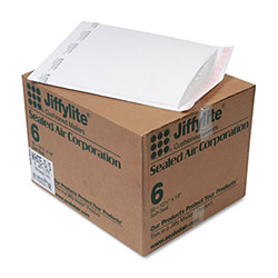 "Paper Jiffylite® Recycled White Bubble Mailer, #6, 12 1/2""x19"", Case of 50"