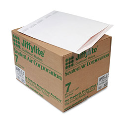 "Paper Jiffylite® Recycled White Bubble Mailer, #7, 14 1/4""x20"", Case of 50"