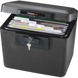 "Sentry Security Fire File, 15-1/4"" x 12-1/8"" x 13-9/16"", Black"