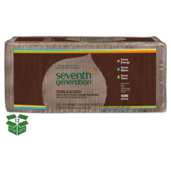 Seventh Generation 100% Recycled Napkins, One-Ply Luncheon Napkins, 11-1/2 x 13, Natural